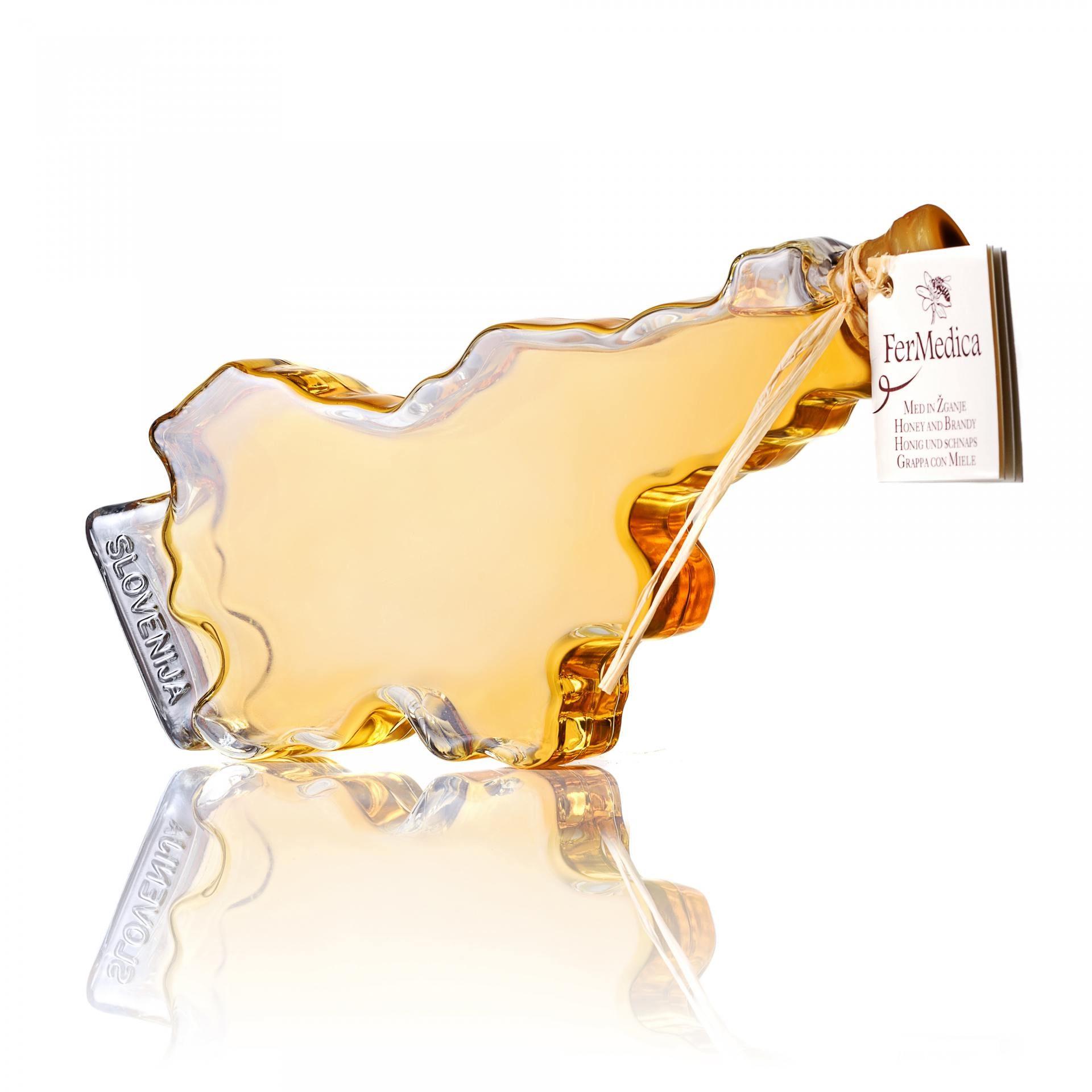 Med in žganje, med z dodatki, darilni seti v lični embalaži fermedica 18