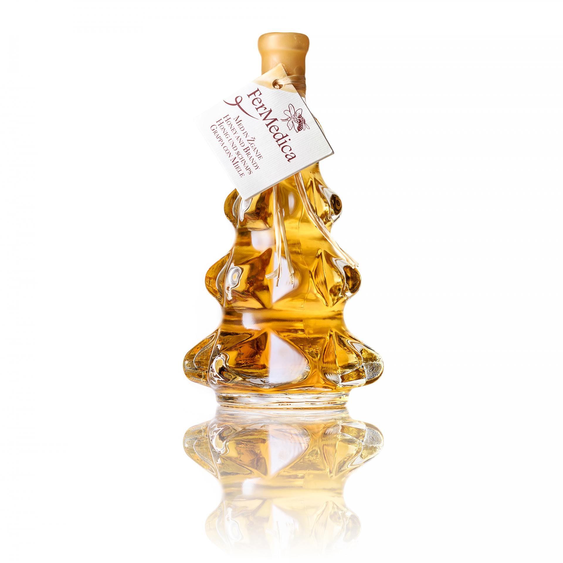 Med in žganje, med z dodatki, darilni seti v lični embalaži fermedica 12