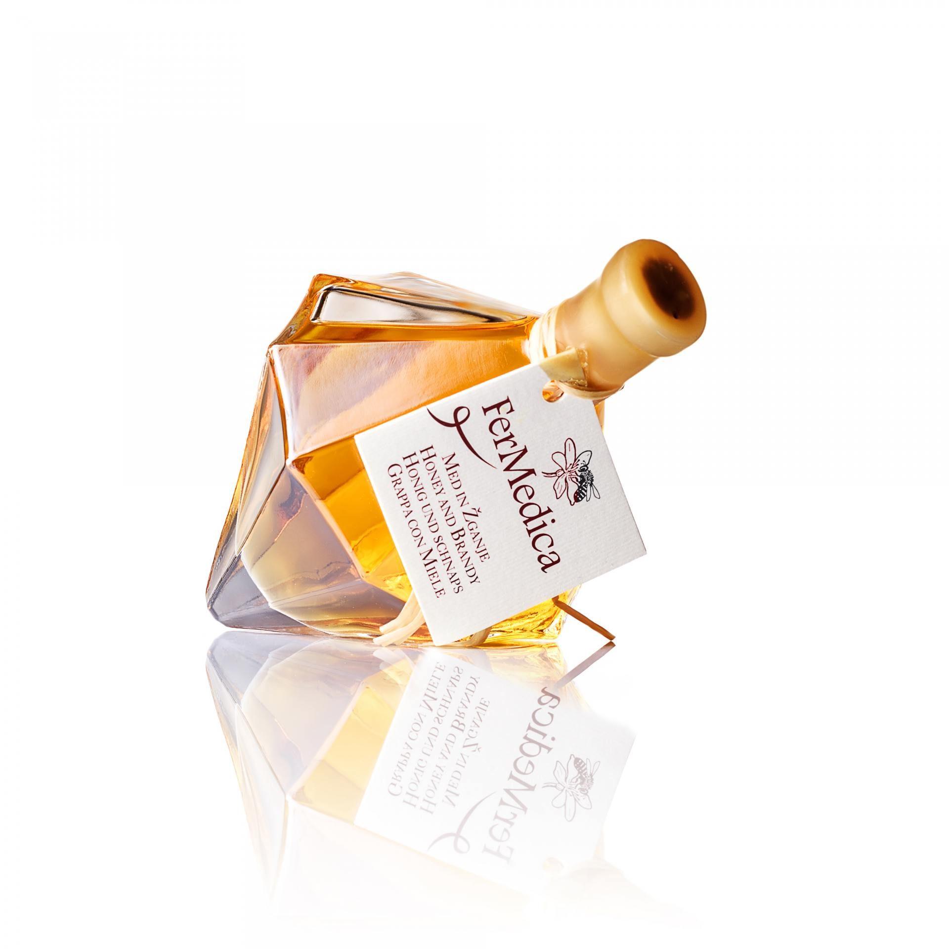 Med in žganje, med z dodatki, darilni seti v lični embalaži fermedica 13