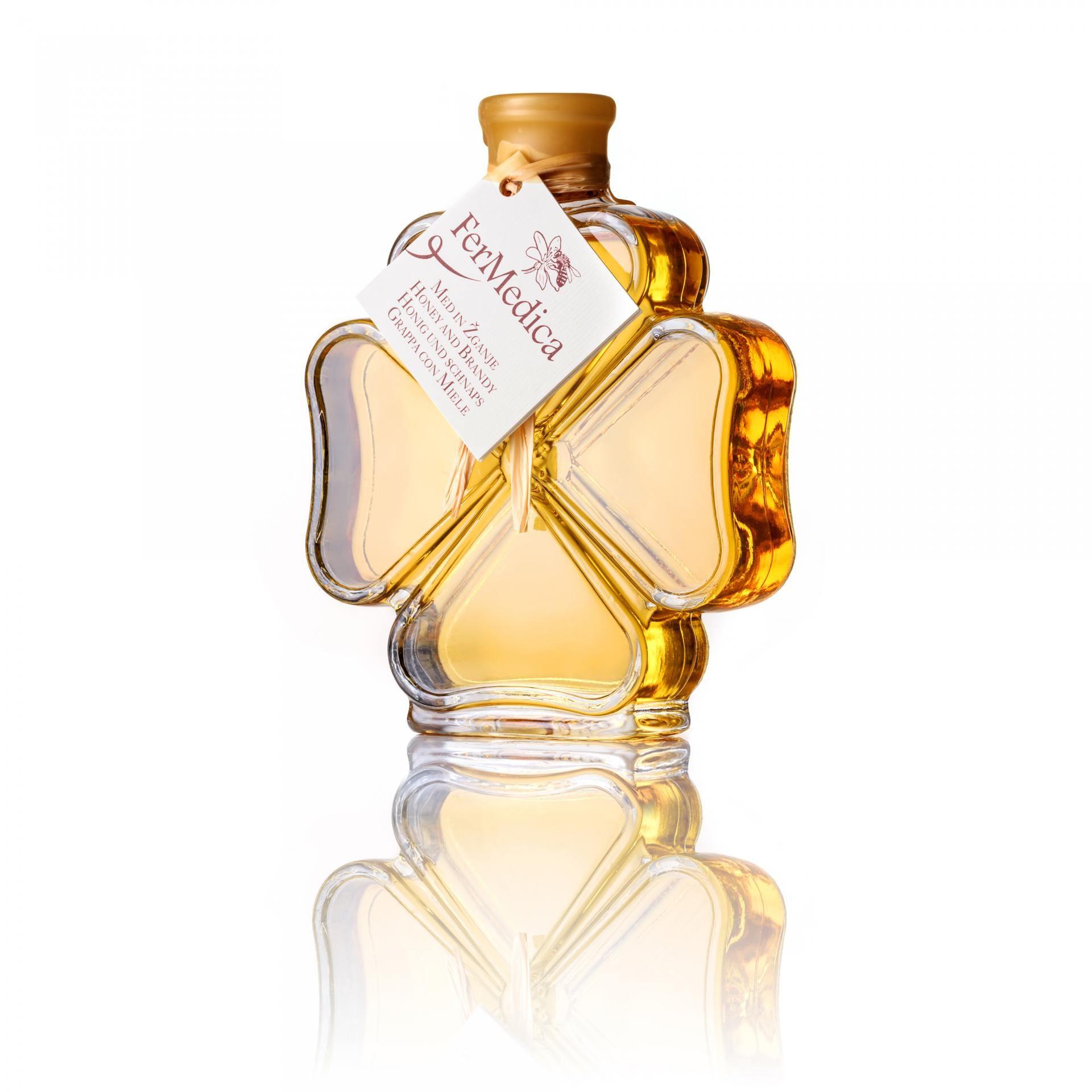 Med in žganje, med z dodatki, darilni seti v lični embalaži fermedica 15