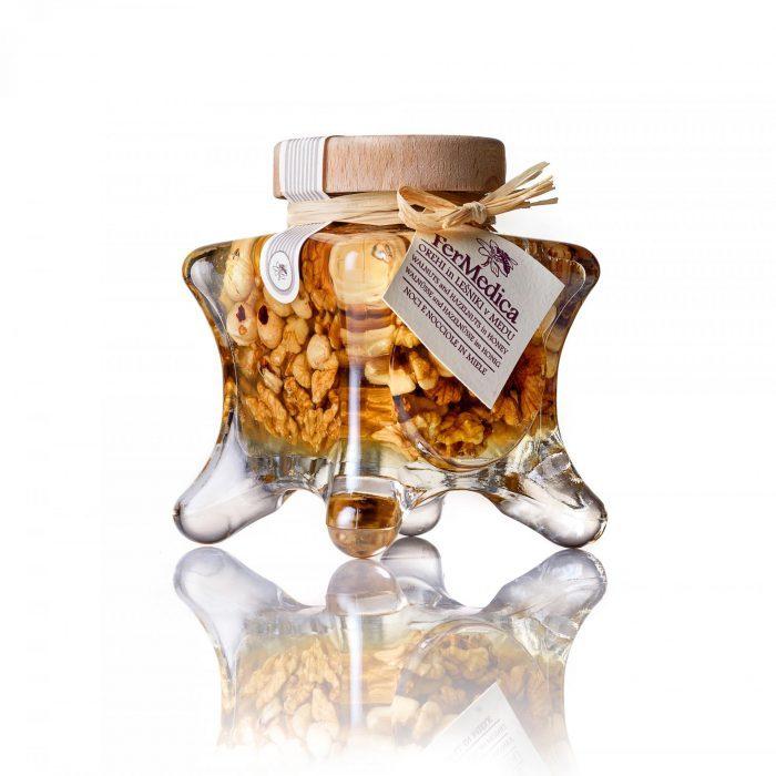 Med in žganje, med z dodatki, darilni seti v lični embalaži fermedica 19