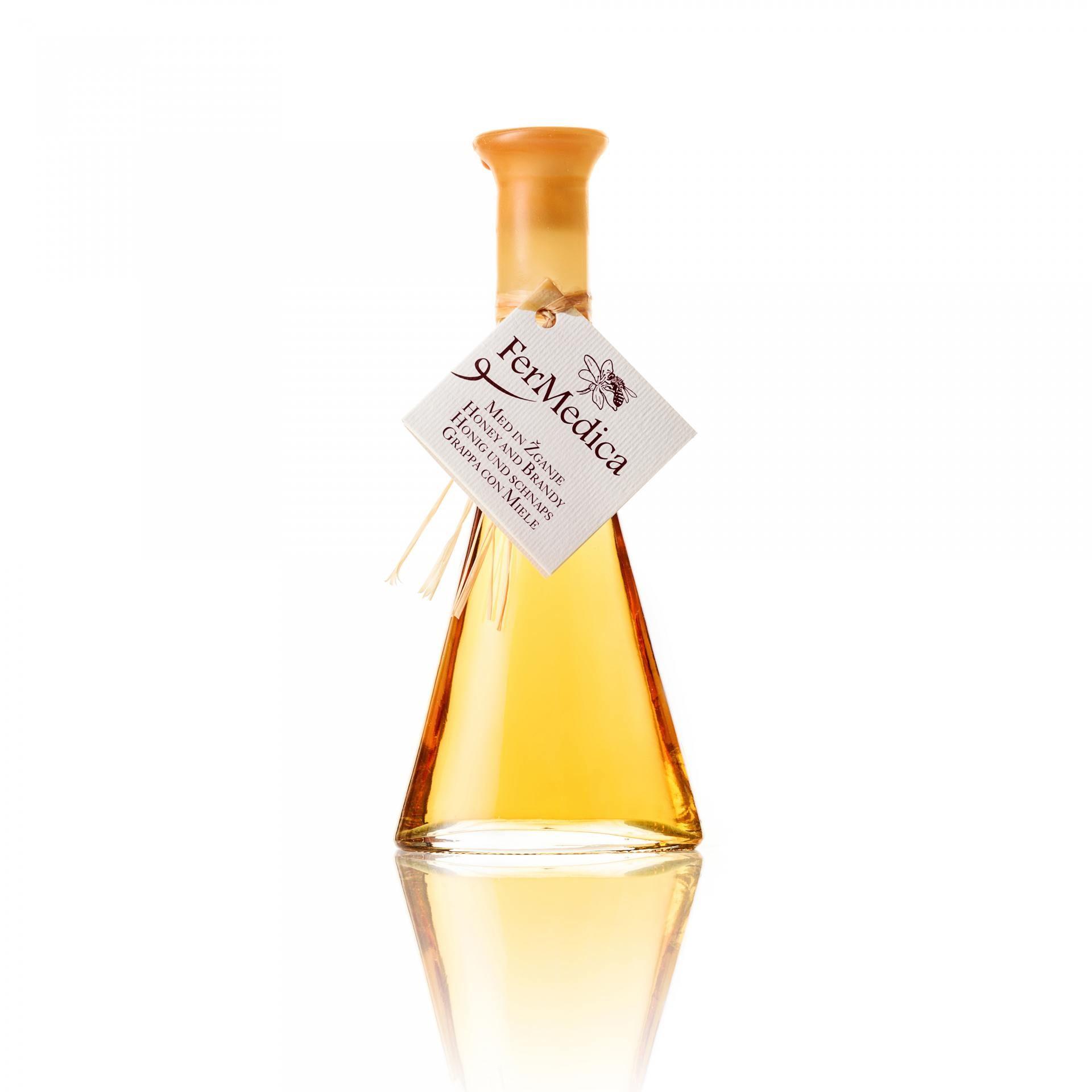 Med in žganje, med z dodatki, darilni seti v lični embalaži fermedica 25