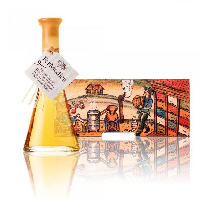 Med in žganje, med z dodatki, darilni seti v lični embalaži fermedica 27