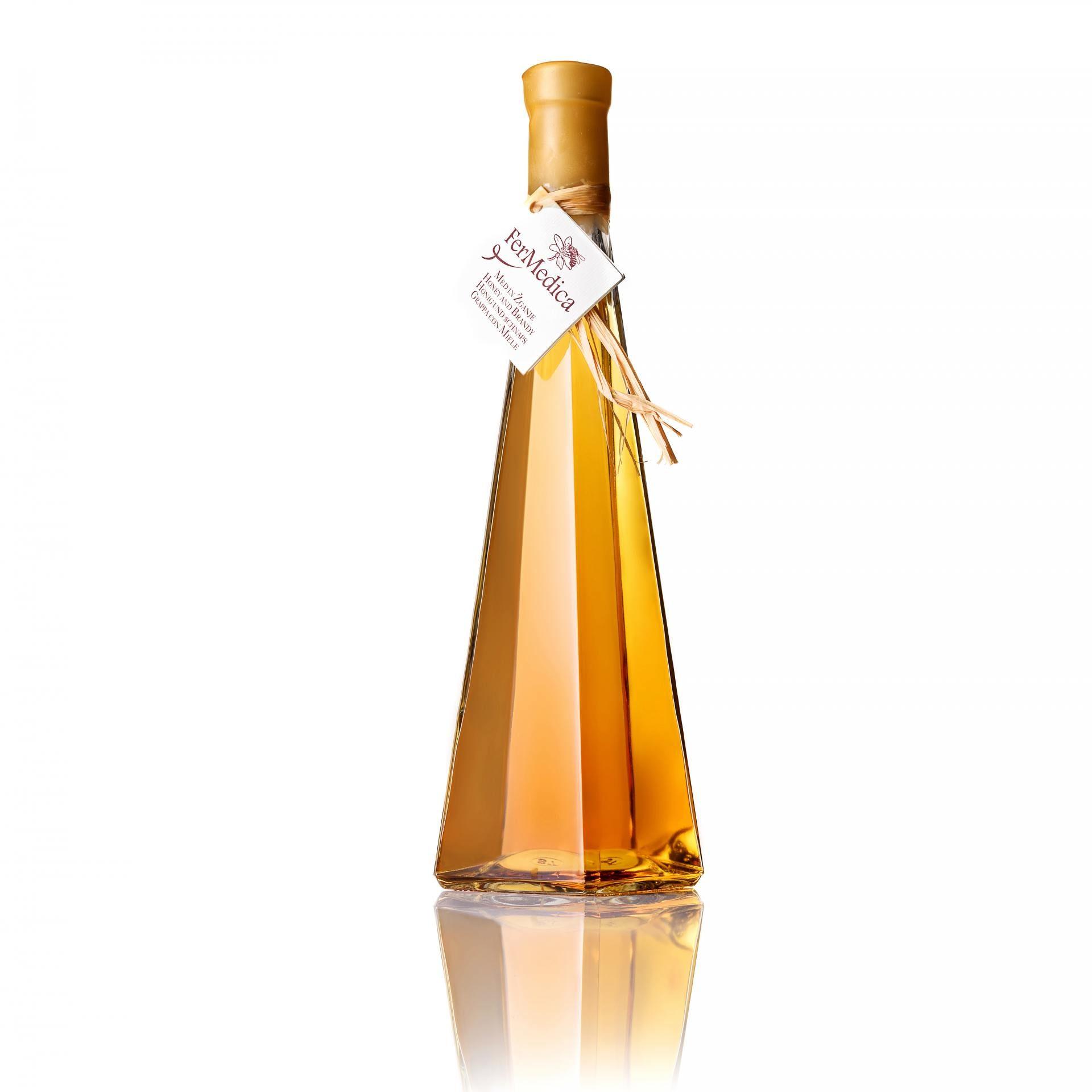 Med in žganje, med z dodatki, darilni seti v lični embalaži fermedica 4