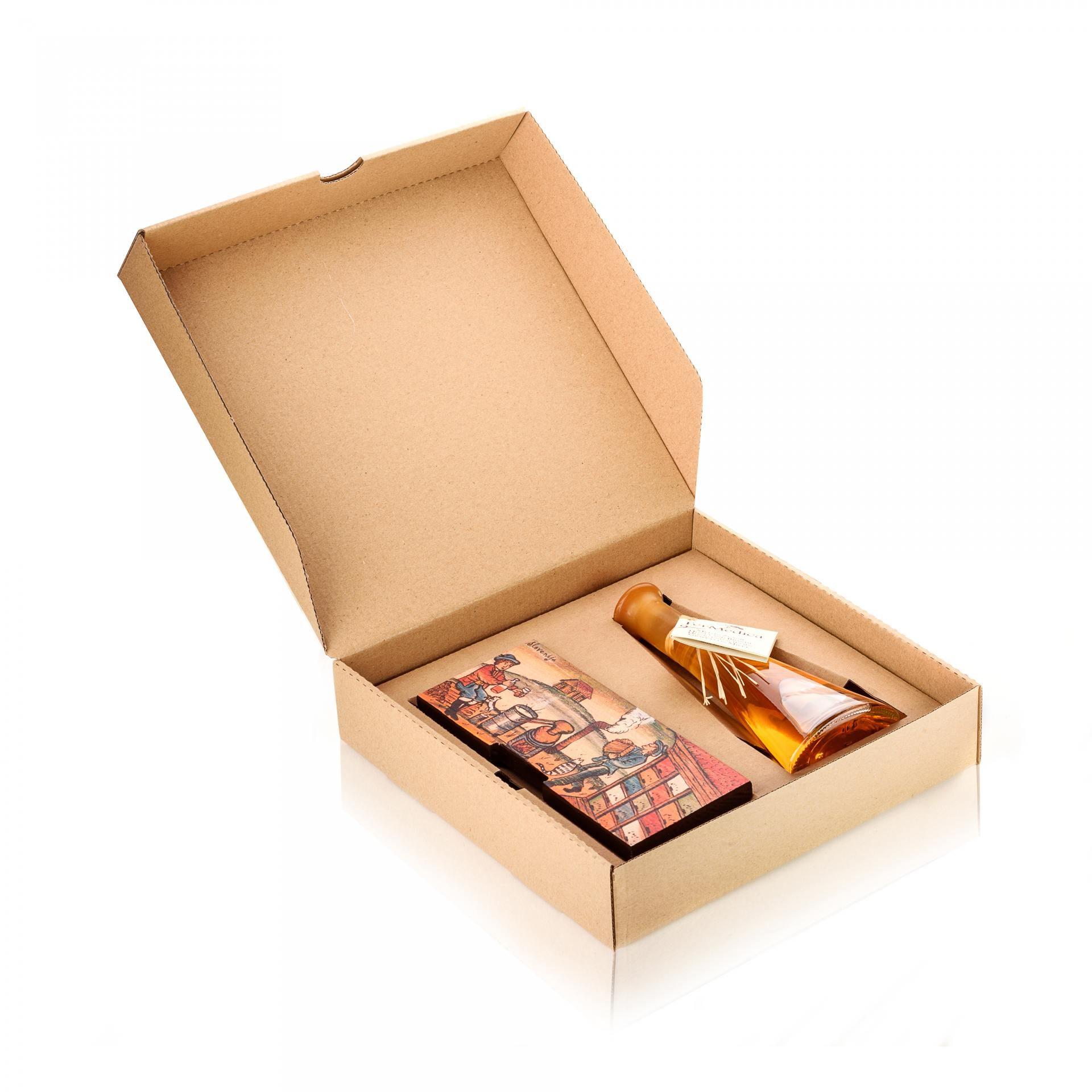 Med in žganje, med z dodatki, darilni seti v lični embalaži fermedica 43