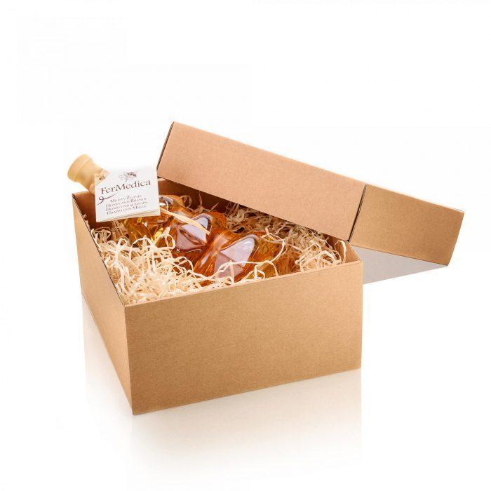 Med in žganje, med z dodatki, darilni seti v lični embalaži fermedica 49