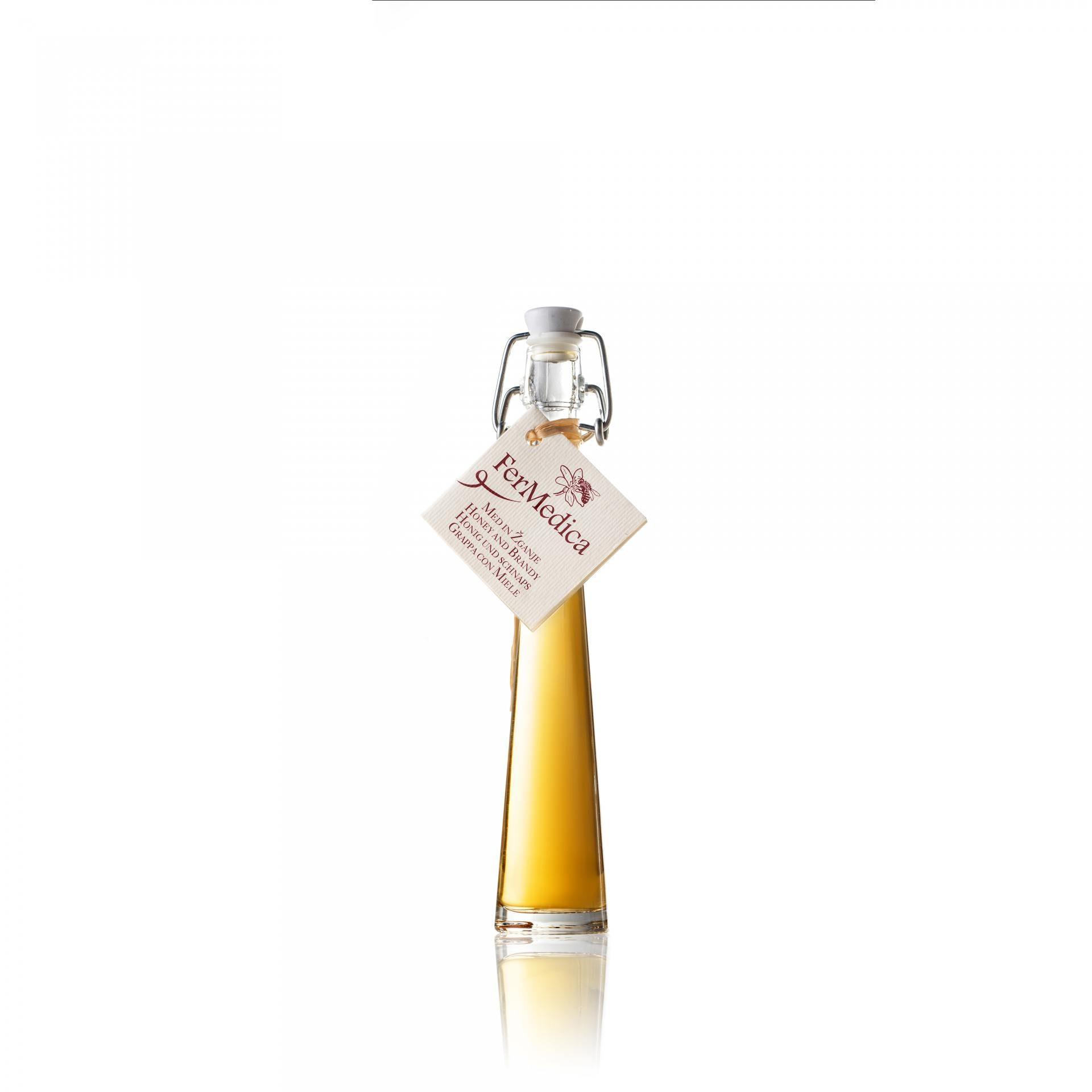Med in žganje, med z dodatki, darilni seti v lični embalaži fermedica 53