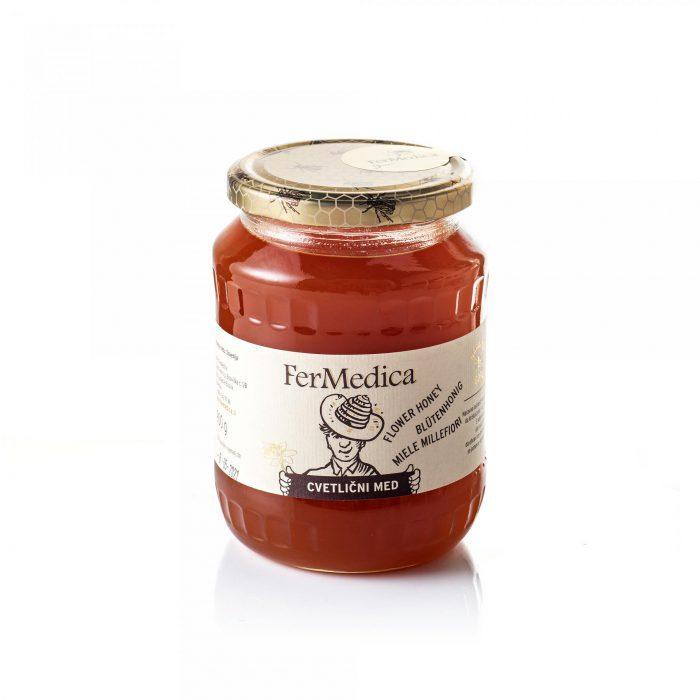 Med in žganje, med z dodatki, darilni seti v lični embalaži fermedica 63