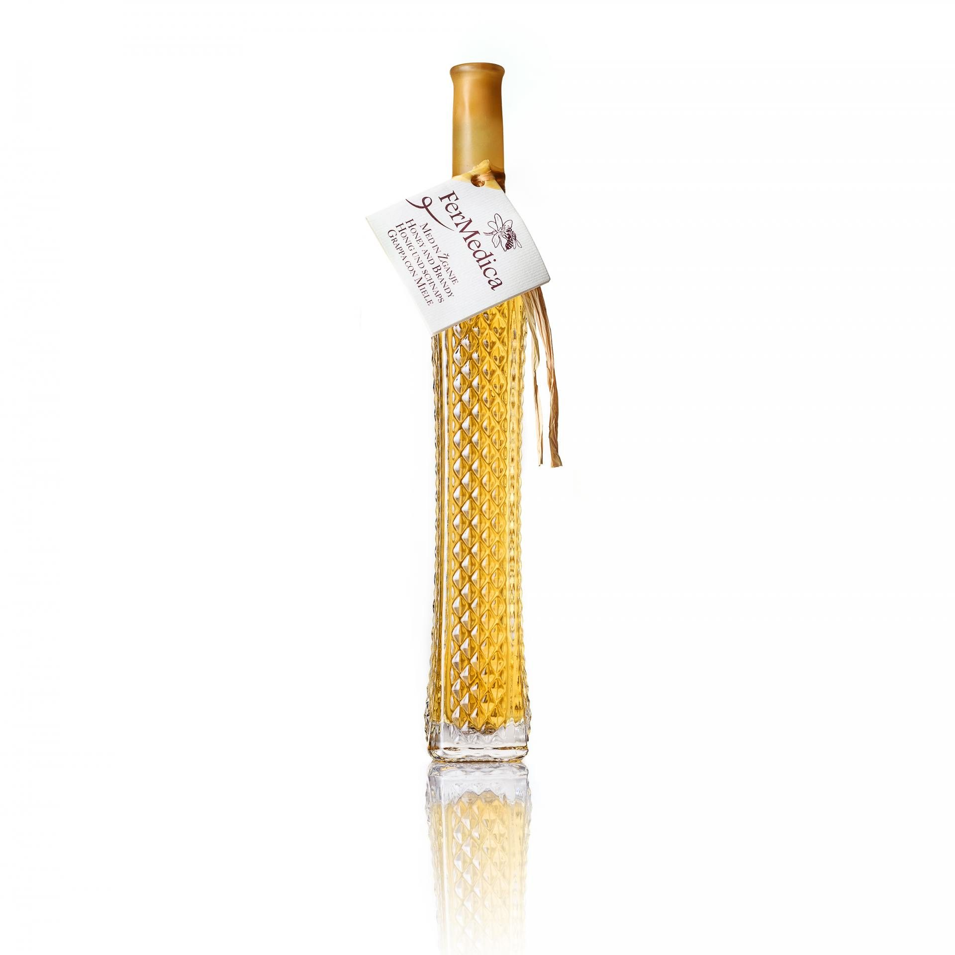 Med in žganje, med z dodatki, darilni seti v lični embalaži fermedica 7