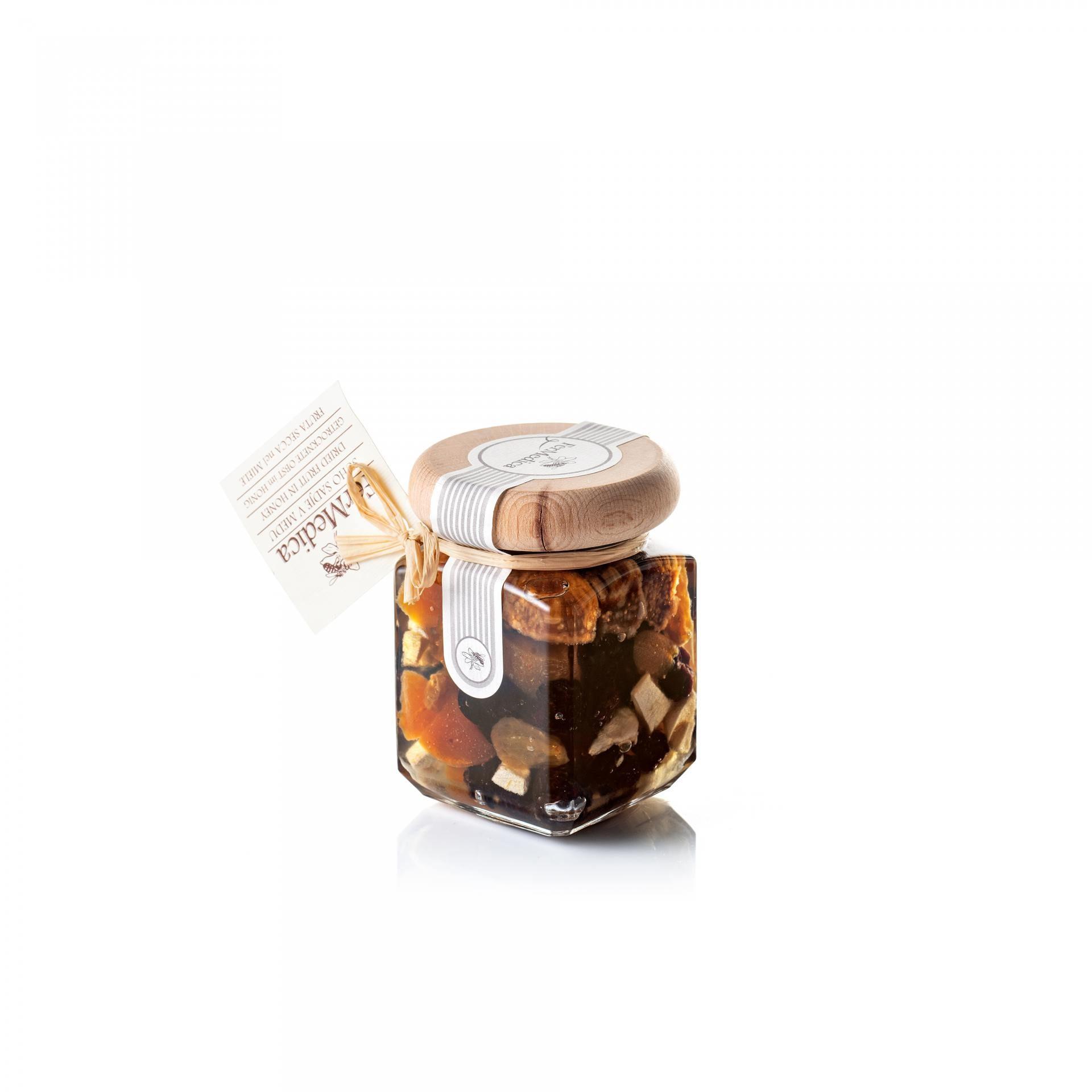 Med in žganje, med z dodatki, darilni seti v lični embalaži fermedica 75