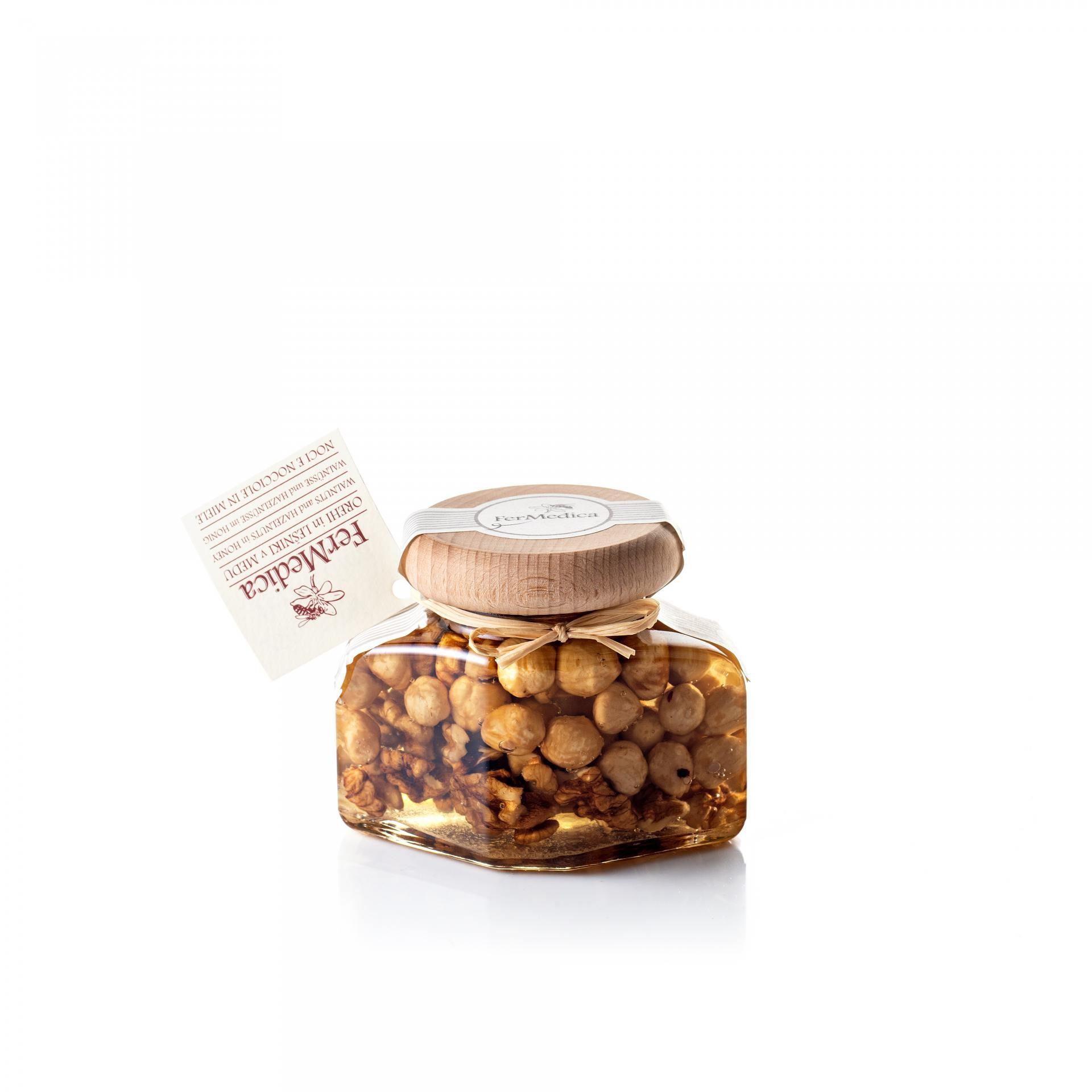 Med in žganje, med z dodatki, darilni seti v lični embalaži fermedica 77