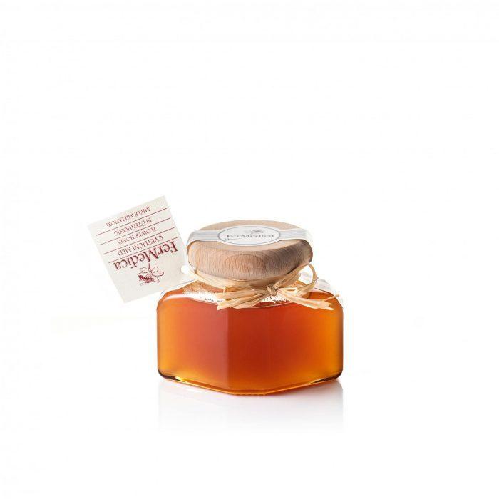 Med in žganje, med z dodatki, darilni seti v lični embalaži fermedica 79