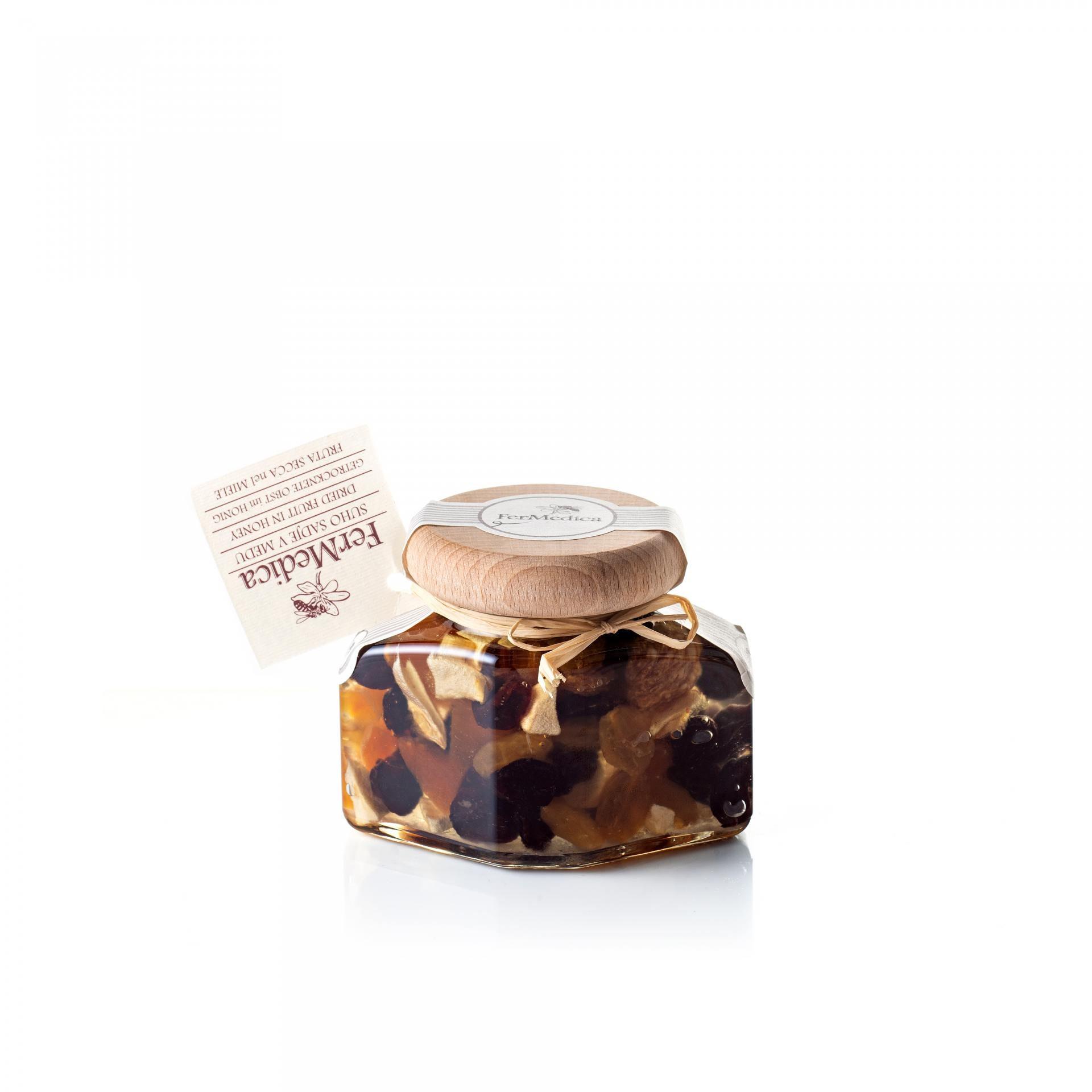 Med in žganje, med z dodatki, darilni seti v lični embalaži fermedica 81