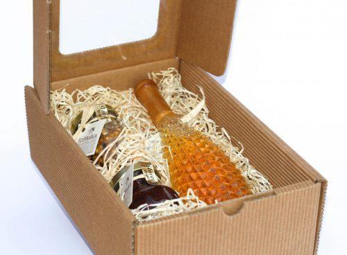 Med in žganje, med z dodatki, darilni seti v lični embalaži fermedica IMG_2165